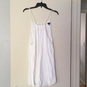 White mini sundress